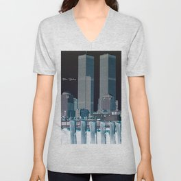 Twin Towers Unisex V-Neck