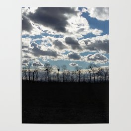 Cloudy Evening Poster