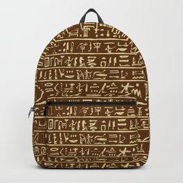 Egyptian Hieroglyphics // Brown & Tan Backpack