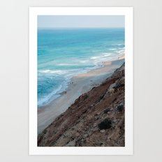 A stroll at the beach Art Print