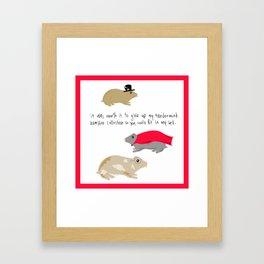 Hamster collection Framed Art Print