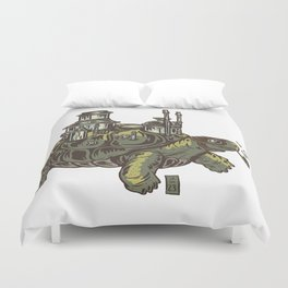 Steampunk Turtle Duvet Cover