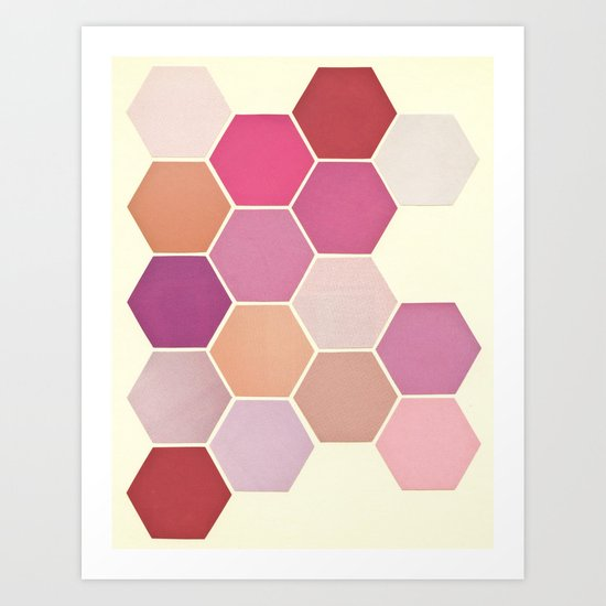Shades of Pink Art Print