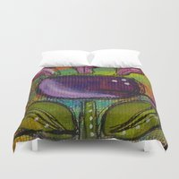 tulip Duvet Covers featuring Tulip by Kimberly McGuiness