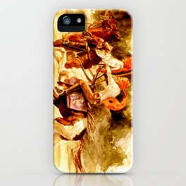 Horses and People No.1 iPhone Case
