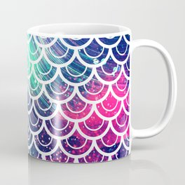 Mermaid Scales Pink Turquoise Blue Coffee Mug