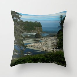 Morning At The Seaside Throw Pillow