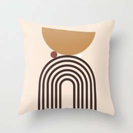 Minimal Rainbow Balance Throw Pillow