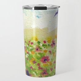 Flower Field Travel Mug