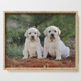 Yellow Labradors Serving Tray