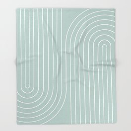 Minimal Line Curvature - Sage Throw Blanket