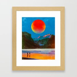 The Moon At The River Framed Art Print