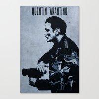 tarantino Canvas Prints featuring Quentin Tarantino by Edward J. Moran II