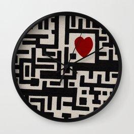 Love Labyrinth Wall Clock