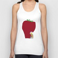 strawberry Tank Tops featuring strawberry by Madmi