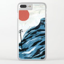Watching the Impending Sunset Clear iPhone Case