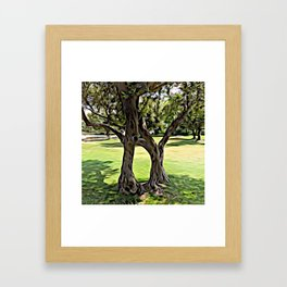 Dance of the Olive Tree Framed Art Print
