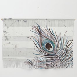 BOHO PEACOCK FEATHER Wall Hanging