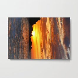 sunset happy bay 3 Metal Print