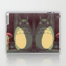 My Neighbor Totoro (Waiting for the bus in the rain IN THE RAIN) Laptop & iPad Skin
