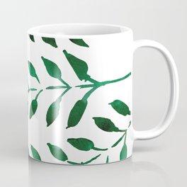 Green Watercolor Fronds Coffee Mug