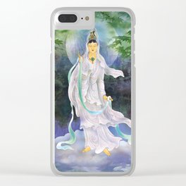 Universal Kuan Yin Clear iPhone Case