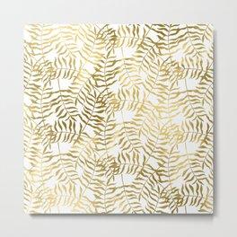 Gold Leaves 1 Metal Print