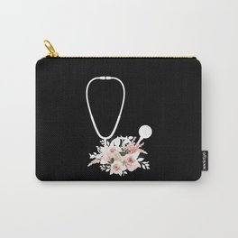 Doctor Gift Floral Stethoscope Healthcare Workers Carry-All Pouch