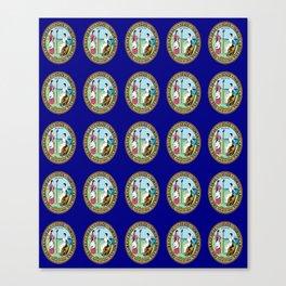 seal of north carolina-america,usa,Old North State,Tar Heel, North Carolinian,Charlotte,Raleigh, Canvas Print