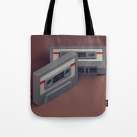 cassette Tote Bags featuring Cassette by Michiel van den Berg