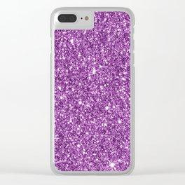Sparkling glitter print D Clear iPhone Case