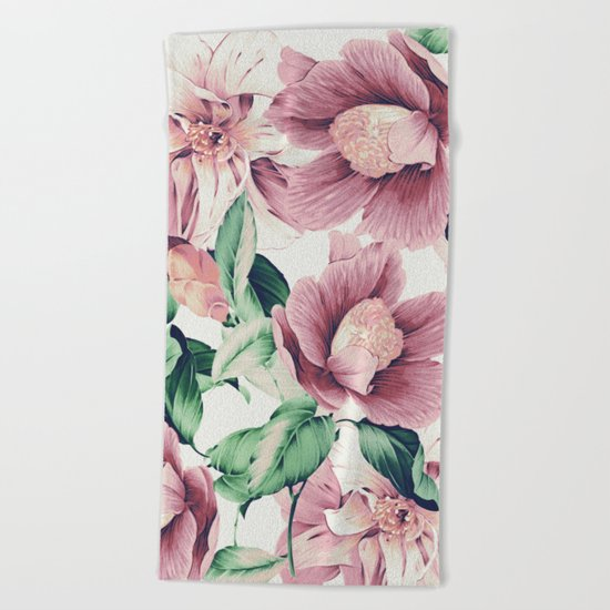 FLOWERS 10a Beach Towel