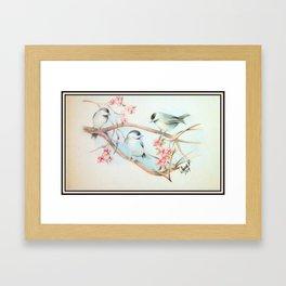 Chickadees Wish for Spring Framed Art Print