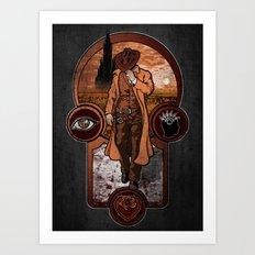 The Gunslinger's Creed. Art Print