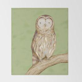 Tawny Owl Throw Blanket