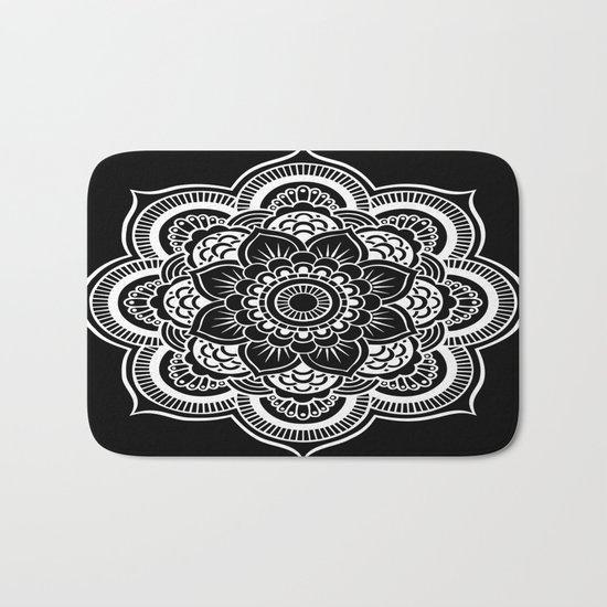 Mandala Black & White Bath Mat