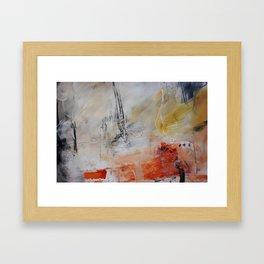White painting print  Framed Art Print