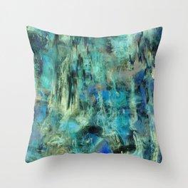 Ice Emerald Bog Throw Pillow