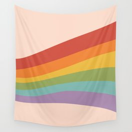Rainbow Stripes 4 Wall Tapestry