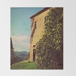 Tuscany Italy Countryside With Villa Throw Blanket