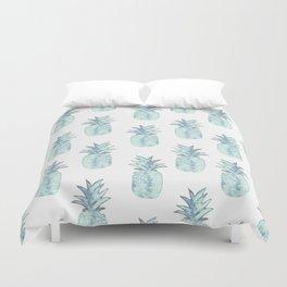 Turquoise Pineapple Duvet Cover