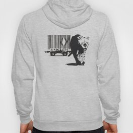 Banksy Animal Rights Artwork, Jaguar Tiger Barcode Prints, Posters, Bags, Tshirts, Men, Women, Youth Hoody