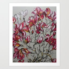You left while the magnolias were in bloom Art Print