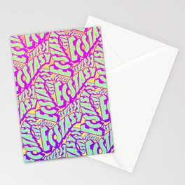 'Ecstacy' 70's Psych Poster Fade Pattern Stationery Cards