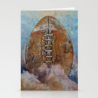 football Stationery Cards featuring Football by Michael Creese