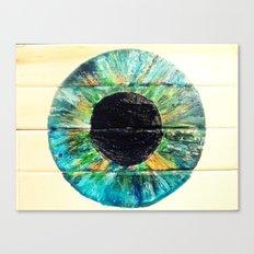AQUA GREEN IRIS Canvas Print