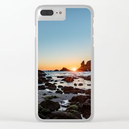 Sunburst at the Beach Clear iPhone Case