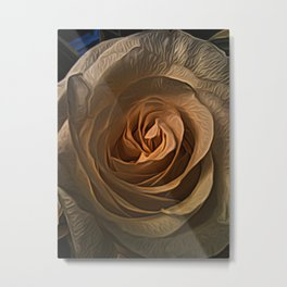 Rose Heart by David Brier Metal Print