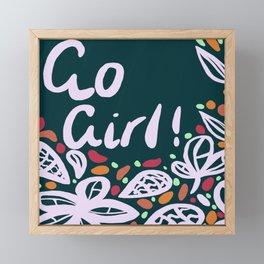 Go Girl Framed Mini Art Print