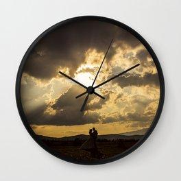 Backlit Boyfriends (Contraluz de Novios) Wall Clock